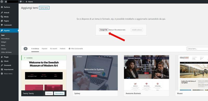 WeMaxe Installare Tema Divi in WordPress